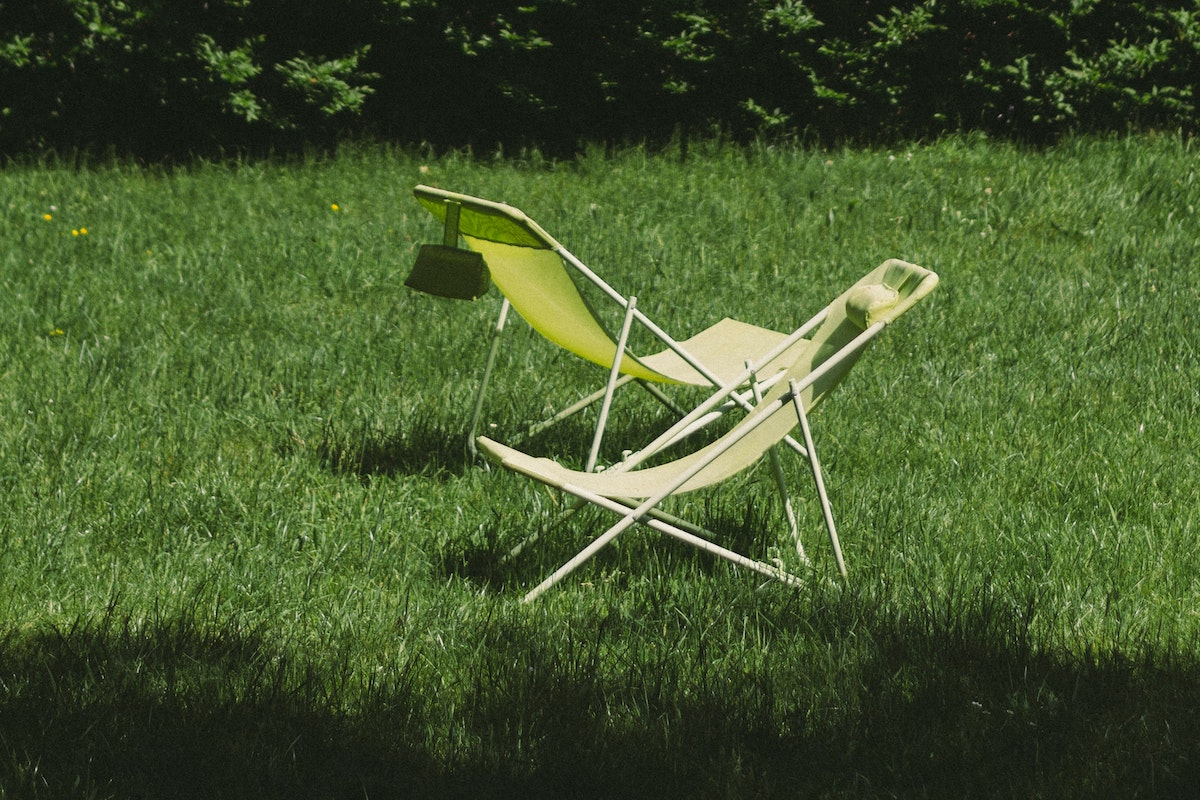 chair in the grass